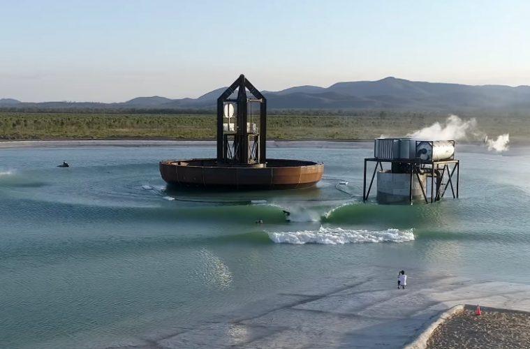 Piscina de ondas do Surf Lakes, em Yeppoon, Austrália