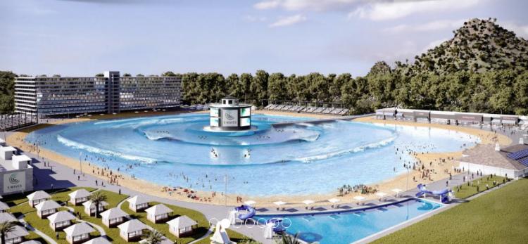 Projeto da piscina de ondas do Surf Lakes em Gold Coast