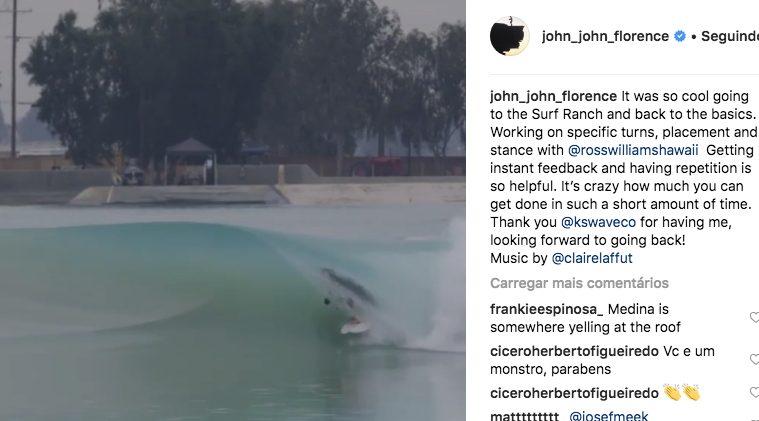 John John Florence no Surf Ranch em março de 2019