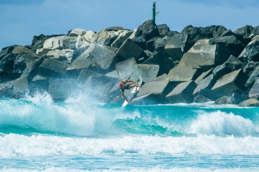 Italo Ferreira no Quiksilver Pro Gold Coast