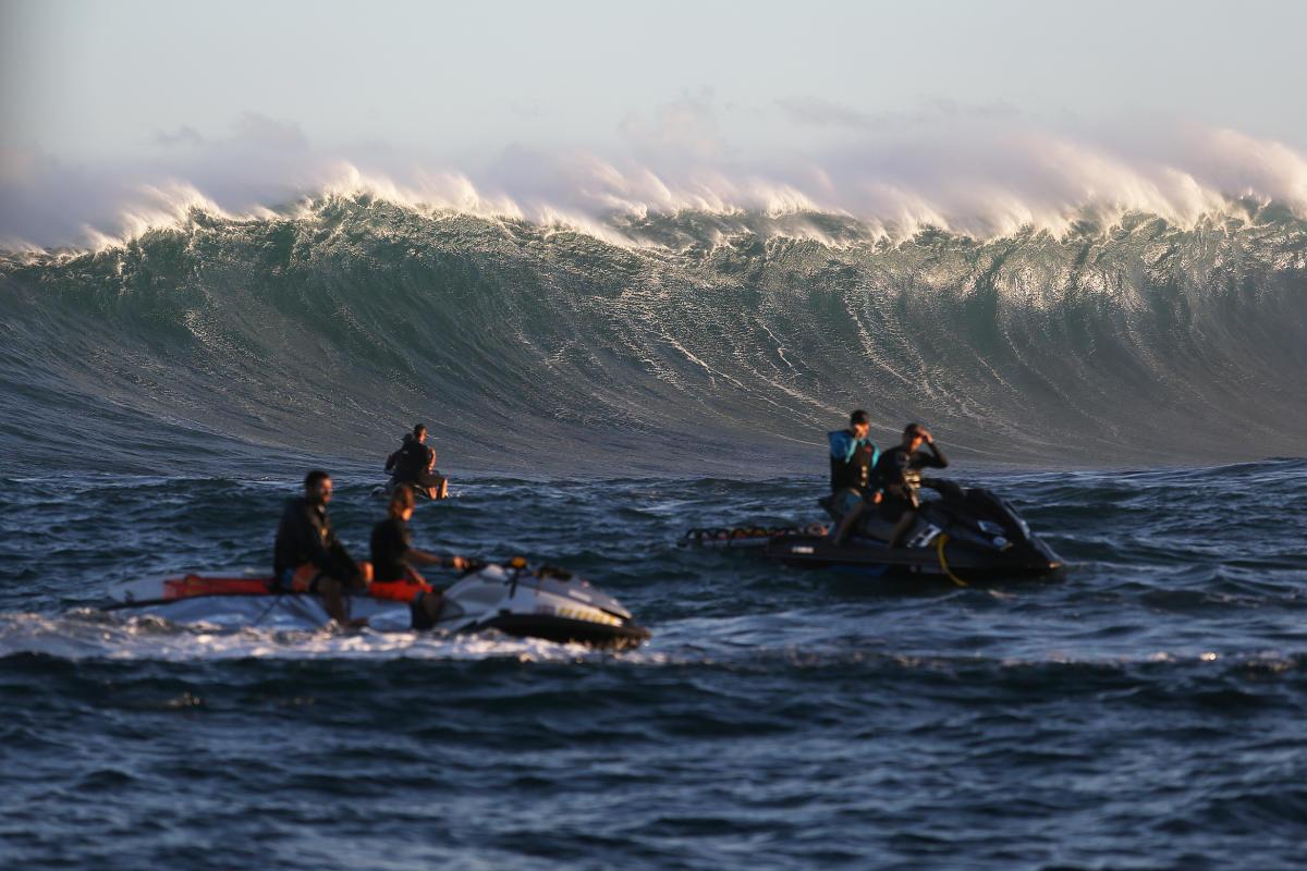 Onda de Jaws, na ilha de Pe'ahi, Havaí.