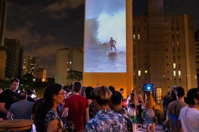 Evento da WSL Zone no centro de São Paulo