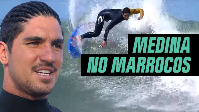 Gabriel Medina surfa no Marrocos