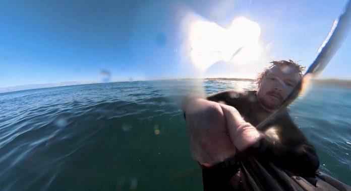 Surfista é perseguido por tubarão na Austrália